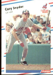 1988 Fleer Baseball Cards      615     Cory Snyder
