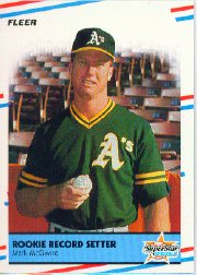 1988 Fleer Baseball Cards      629     Mark McGwire HL