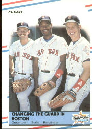 1988 Fleer Baseball Cards      630     Mike Greenwell/Ellis Burks/Todd Benzinger