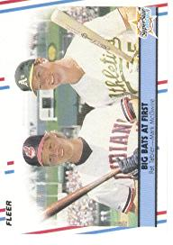 1988 Fleer Baseball Cards      633     Mark McGwire/Pat Tabler