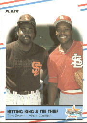 1988 Fleer Baseball Cards      634     Tony Gwynn/Vince Coleman
