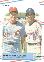 1988 Fleer Baseball Cards      636     Mike Schmidt/Gary Carter