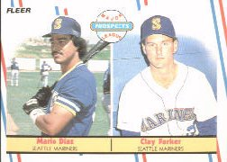 1988 Fleer Baseball Cards       649     Mario Diaz/Clay Parker RC