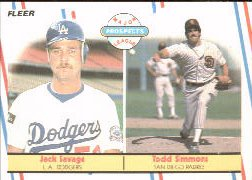 1988 Fleer Baseball Cards       650     Jack Savage/Todd Simmons RC