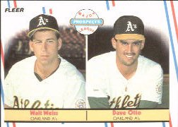 1988 Fleer Baseball Cards       652     Dave Otto/Walt Weiss RC