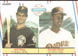 1988 Fleer Baseball Cards       653     Jeff King/Randell Byers RC