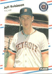 1988 Fleer Baseball Cards      068A     Jeff M. Robinson ERR#{(Stats for Jeff D.#{Robinson