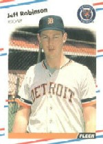 1988 Fleer Baseball Cards      068B     Jeff M. Robinson COR#{(Born 12-14-61)