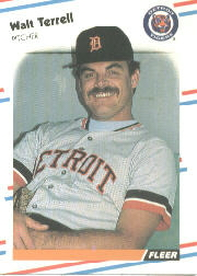 1988 Fleer Baseball Cards      072      Walt Terrell