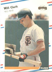 1988 Fleer Baseball Cards      078      Will Clark
