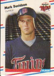 1988 Fleer Baseball Cards      008      Mark Davidson