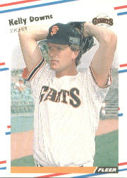 1988 Fleer Baseball Cards      080      Kelly Downs