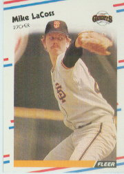 1988 Fleer Baseball Cards      086      Mike LaCoss