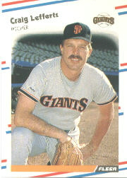 1988 Fleer Baseball Cards      087      Craig Lefferts