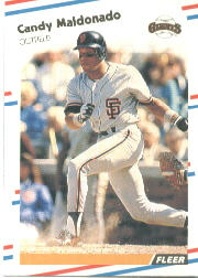 1988 Fleer Baseball Cards      089      Candy Maldonado