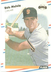 1988 Fleer Baseball Cards      091      Bob Melvin