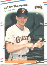 1988 Fleer Baseball Cards      098      Robby Thompson