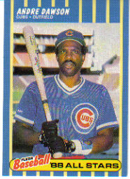 1988 Fleer Baseball All-Stars Baseball Cards   010      Andre Dawson