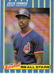 1988 Fleer Baseball All-Stars Baseball Cards   011      Julio Franco