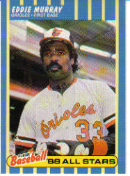 1988 Fleer Baseball All-Stars Baseball Cards   028      Eddie Murray