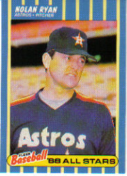 1988 Fleer Baseball All-Stars Baseball Cards   034      Nolan Ryan