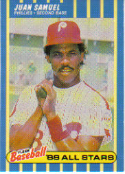 1988 Fleer Baseball All-Stars Baseball Cards   035      Juan Samuel