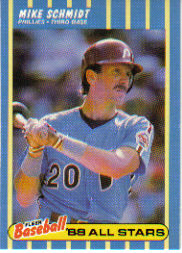 1988 Fleer Baseball All-Stars Baseball Cards   036      Mike Schmidt
