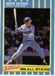 1988 Fleer Baseball All-Stars Baseball Cards   038      Kevin Seitzer