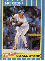 1988 Fleer Baseball All-Stars Baseball Cards   044      Dave Winfield
