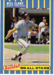 1988 Fleer Baseball All-Stars Baseball Cards   007      Will Clark