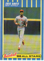1988 Fleer Baseball All-Stars Baseball Cards   009      Eric Davis