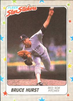 1988 Fleer Sticker Baseball Cards        010      Bruce Hurst