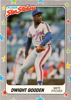 1988 Fleer Sticker Baseball Cards        102     Dwight Gooden