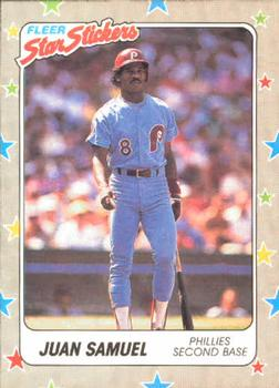 1988 Fleer Sticker Baseball Cards        110     Juan Samuel