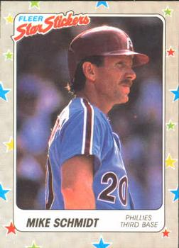 1988 Fleer Sticker Baseball Cards        111     Mike Schmidt