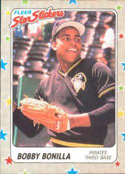 1988 Fleer Sticker Baseball Cards        114     Bobby Bonilla