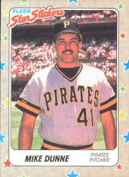 1988 Fleer Sticker Baseball Cards        115     Mike Dunne