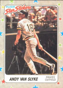 1988 Fleer Sticker Baseball Cards        116     Andy Van Slyke