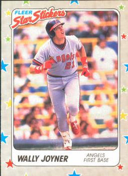 1988 Fleer Sticker Baseball Cards        012      Wally Joyner