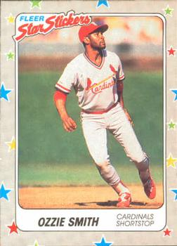 1988 Fleer Sticker Baseball Cards        120     Ozzie Smith