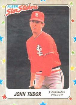 1988 Fleer Sticker Baseball Cards        121     John Tudor
