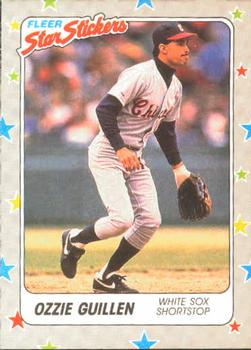 1988 Fleer Sticker Baseball Cards        016      Ozzie Guillen