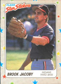 1988 Fleer Sticker Baseball Cards        020      Brook Jacoby
