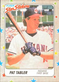 1988 Fleer Sticker Baseball Cards        022      Pat Tabler