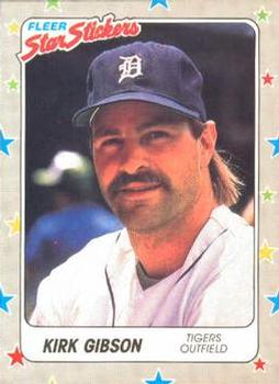 1988 Fleer Sticker Baseball Cards        024      Kirk Gibson