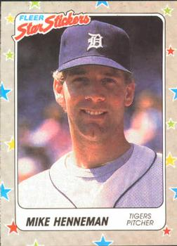 1988 Fleer Sticker Baseball Cards        025      Mike Henneman