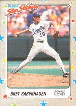 1988 Fleer Sticker Baseball Cards        032      Bret Saberhagen