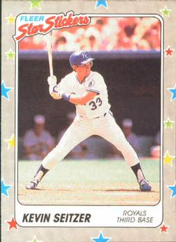 1988 Fleer Sticker Baseball Cards        033      Kevin Seitzer