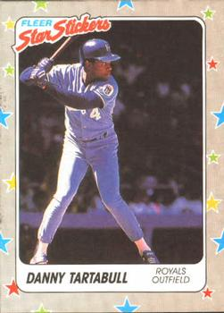 1988 Fleer Sticker Baseball Cards        034      Danny Tartabull