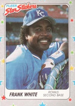 1988 Fleer Sticker Baseball Cards        035      Frank White